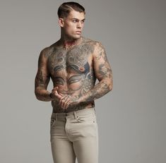 Model Stephen James for Fathersons Clothing #RemoveTattooTat