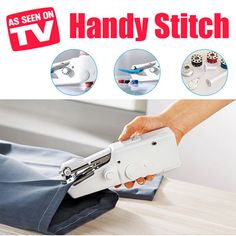 [$9.90](▼76%)As Seen On TV Handy Stitch Handheld Sewing Machine/ Mini Sewing Machine/ Compact size/ Sewing/ Mini