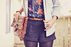 Shorts over leggings in the winter