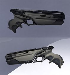 Meat machine Speed up and simplify the pistol loading process with the RAE Indu. Anime Weapons, Sci Fi Weapons, Weapon Concept Art, Weapons Guns, Fantasy Weapons, Military Weapons, Guns And Ammo, Sci Fi Fantasy, Cyberpunk