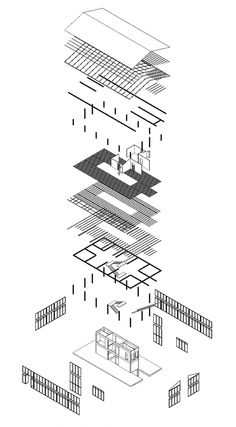 Project 02 Bike Shop + Residence : Exploded Isometric Year 2, 1st Semester