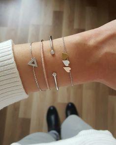 Combo du jour avec les bracelets Kevin, Lino, Théo et Coeurs disponibles sur www.asoabijoux.com