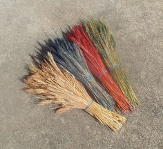 Rustic Grass Accent for Pine Needle Basket by midnightcoiler