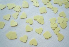Items similar to Yellow Hearts Confetti Count), Table Decor, Party Decor on Etsy Scrapbook Embellishments, For Your Party, Confetti, Jelly, Count, Hearts, Sweets, Shapes, Unique Jewelry