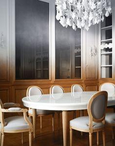 Contemporary home decor - fading history ramy fischler transforms an art deco apartment into a contemporary piedaterre Interior, Dining Room Design, Best Interior, Art Deco Interior, Top Interior Designers, Home Decor, Ombre Interior, Home Interior Design, Interior Deco