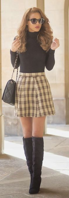 Vintage Tartan Chic Style by Nada Adellè - reminds me so much of clueless! This is so freaking cute