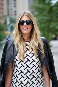 NYFW: Black & White T Dress
