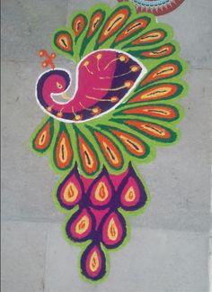 Peacock Rangpli Designs