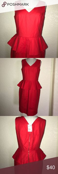 🖤🖤 clearance sale 🛍 NEW 💕 H&M Red Dress 👗💕 🔥 NWT Red H&M dress with back zipper 🔥 H&M Dresses