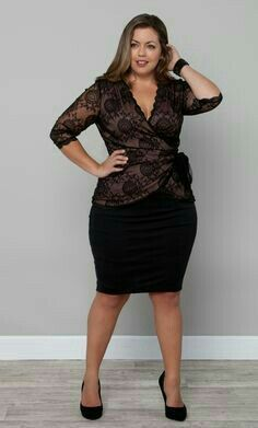 Plus Size Fashion Romeo who? the Juliet Lace Wrap Top that is! Delicate lace is tailored to a classic wrap silhouette, making it perfect to be paired with pencil skirts or jeans. Plus Size Party Dresses, Party Dresses For Women, Plus Size Outfits, Plus Size Lace Dress, Xl Mode, Curvy Women Fashion, Womens Fashion, Latest Fashion, Plus Size Fashion Tips