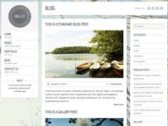 Simple free blog templates