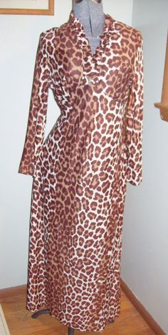 Truly Amazing Vintage 60s 70s Leopard Print by atomicbettiescloset, $40.00
