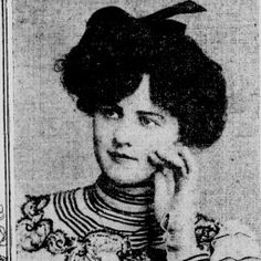 1904 The drooping pompadour