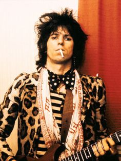 The 50 Most Stylish Musicians of the Last 50 Years  Keith Richards - This man is wearing a leopard jacket.