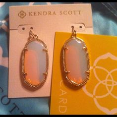Kendra Scott Opalite Elle Brand New with Tags!!!!! Brand New with tag! Gorgeous Kendra Scott Opalite Elle! No trades no Merc. No offers.  Thanks for looking! Rare stone and sold out! Kendra Scott Jewelry