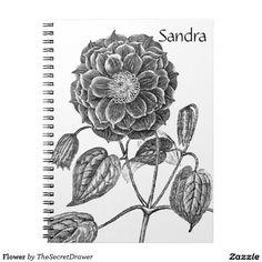 Flower Spiral Note Book