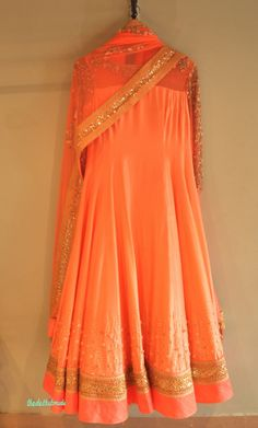 Madsam Tinzin Summer 2014 collection - peach anarkali | thedelhibride wedding blog