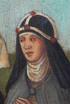 medieval nuns clothing | ... portrait of Katerina Lemmel wearing the crown of a Brigittine nun