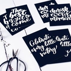 Set of 6 Inspirational Monochrome Postcards Postcard Packs Cherish Every Moment, In This Moment, Pop Collection, The Best Is Yet To Come, New Set, Brighten Your Day, Encouragement Quotes, Hand Lettering, Postcards