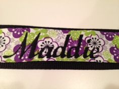 Monogrammed Guitar Strap - Purple Flowers. $20.00, via Etsy.