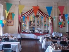 Indoor Circus party decor