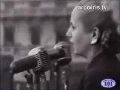Eva Perón: Discurso con el pueblo y voto femenino.