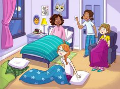 Girls Only Sleepover ~ by Genevieve Kote