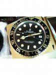 Rolex GMT-Master II Negro Bisel Oro Amarillo Caso reloj de pared con Dial Negro