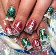 Christmas  New Year Eve Nail Art Designs (7)
