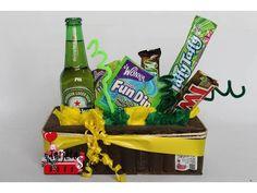 Ancheta heineken !!!  Contenido:   - 1 cerveza heineken.  - 1  fun dip.  - 1 frunas laffy taffy de wonka.  -1 chocolatina milkyway.  -1 chocolatina twix.  - 1 caja de nerds Precio: $35.000  Incluye tarjeta, servicio a domicio en medellin, como comprar: 3207187678 ó 3148179785, escríbenos por whatsapp, ventas al por mayor y al detal !!!