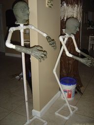 Build your own spooks and scarecrows with PVC pipe!