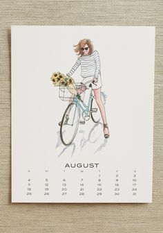 2013 Indie Fashion Calendar By Inslee | Modern Vintage Wall Art | Modern Vintage Home & Office