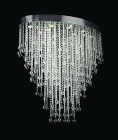 VINTAGE Faceted Crystal Chandelier 40mm Prism BLACK  SO CHIC!! 15