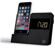 KitSound X-Dock 3 Alarm Clock Radio Charging Dock with Lightning Connection, AUX Port, and Sleep/Snooze Functions for iPhone 5/5S/6/6S/6 Plus/6S Plus and iPod Touch 5 - Black