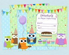 Einladungskarten Kindergeburtstag Basteln Ausdrucken Kostenlos