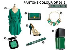 Emerald green is Pantone's colour of the year for 2013 - Makeup and Macaroons #coloroftheyear