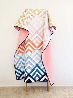 Plaid Patchwork, Patchwork Quilt Patterns, Modern Quilt Patterns, Sewing Patterns, Simple Quilt Pattern, Modern Baby Quilts, Stripe Quilt Pattern, Modern Quilting Designs, Modern Quilt Blocks