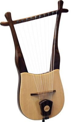 Walnut Lyre Musical String Instrument Heritage by HeritageMusic, $349.00