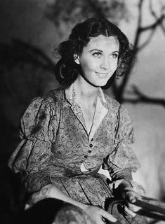 Vivien Leigh on the set of Gone With the Wind 1939