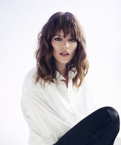 perfect shoulder length with bangs