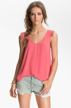 Lush Stud Cap Sleeve Tank available at Nordstrom