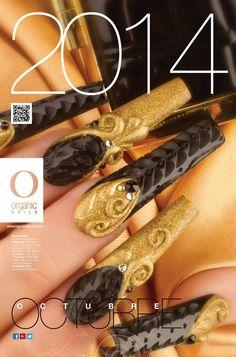 Octubre 2014... Manolo Rosas/ ProMaster Organic® Nails Organic Nails, Stiletto Nails, Nail Art Designs, Amazing Nails, Beautiful, 3d, Makeup, Black, Types Of Nails