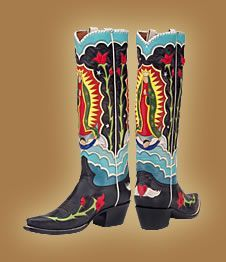 virgin guadalupe black boots - Google Search
