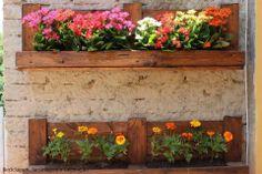 Floreiras, por reutilização de pallets...