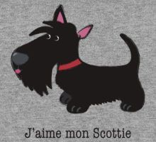 J'aime mon Scottie (I love my Scottie – French) by BonniePortraits