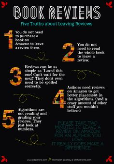 The Truth about Leaving Reviews | jodi-perkins #piktochart #infographic #bookreviews