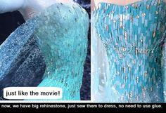 MAT1 material set for elsa dress  DIY a Elsa dress by angelssecret, $35.00