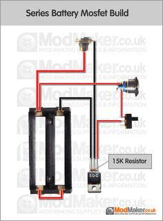 Series Battery P-Channel Mosfet Wiring Diagram Vape Mods Diy, Vape Diy, Diy Box Mod, Diy E Liquid, Engineering Tools, Fog Machine, Vape Tricks, Electronics Projects, Electronics Components