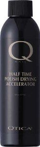 Qtica 1/2 time Polish Drying Accelerator (0.25 oz.) by QTICA. $5.99. Most Popular Nail Care sold. Qtica 1/2 time Polish Drying Accelerator A colorless, non-toxic and odorless liquid which dries polish thoughly in 5 - 7 minutes. Applies with its own eye droper, ideal for pedicures, artifical and natural nails.  (0.25 oz.)