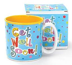 Get Well Soon Coffee Mug/Cup Gift Boxed: Dishwasher safe/FDA approved/Microwave safe. Get Well Soon Coffee Mug/Cup Gift Boxed Novelty Hats, Novelty Items, Glass Baron, Honey Bottles, Wholesale Florist, Get Well Gifts, Porcelain Mugs, Get Well Soon, The Balloon